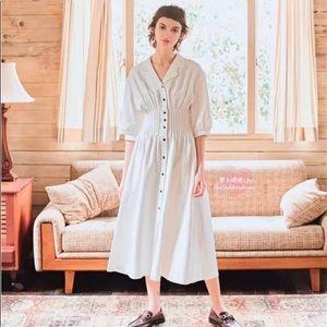 Moussy pleated maxi dress
